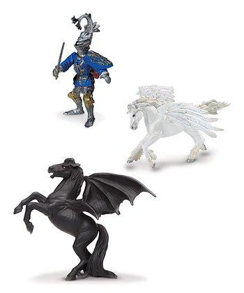 Pegasus, Areion & Robert De Mamines Figurine Set