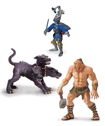 Cyclops, Cerberus & Robert De Mamines Figurine Set