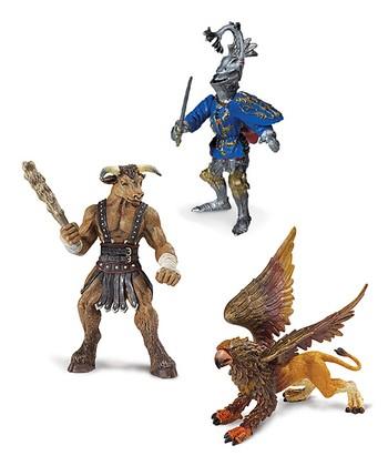 Griffin, Minotaur & Robert De Mamines Figurine Set