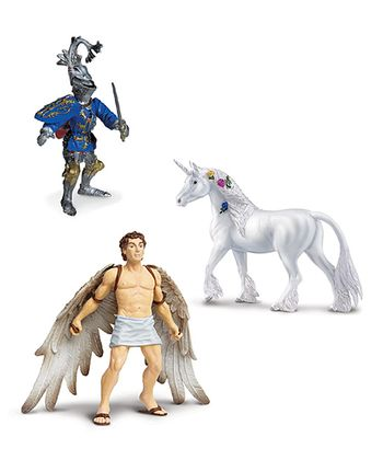 Unicorn, Icarus & Robert De Mamines Figurine Set