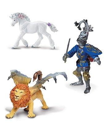 Baby Unicorn, Manticore & Robert De Mamines Figurine Set
