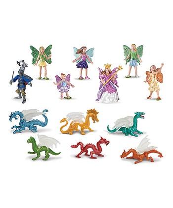 Fairy Fantasies & Dragons Toob Figurine Set