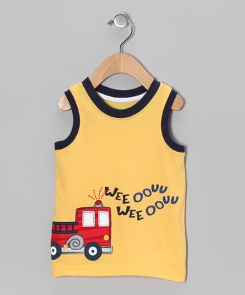 Yellow Fire Truck Tank - Infant