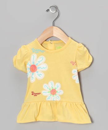 Yellow Flower Skirted Top - Infant