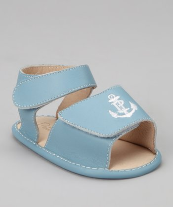 Gray Blue Anchor Sandal