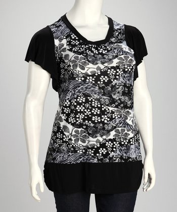 Black & White Tunic - Plus