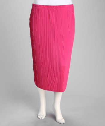 Pink Pencil Skirt - Plus