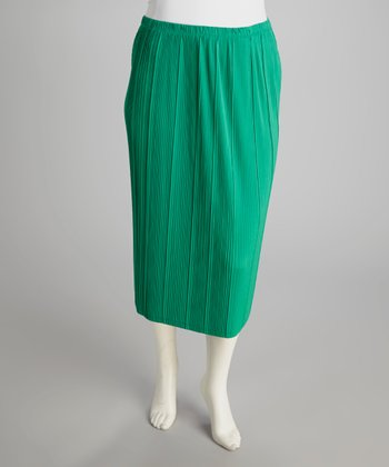 Turquoise Pencil Skirt - Plus