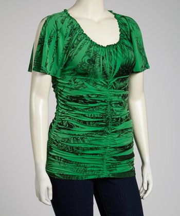 Green Sublimated Top - Plus