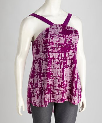 Purple Burnout Tunic - Plus