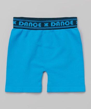 Turquoise 'Dance' Shorts