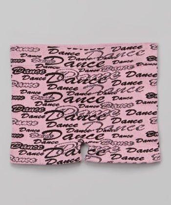Pink Cursive 'Dance' Shorts