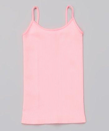 Neon Pink Vertical Stripe Camisole