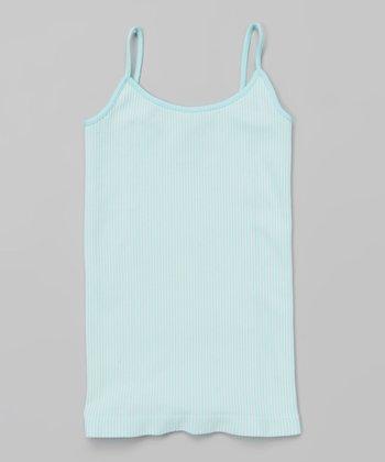 Baby Blue Vertical Stripe Camisole