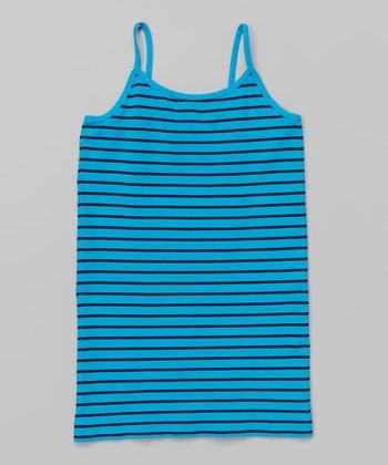 Turquoise & Black Stripe Camisole