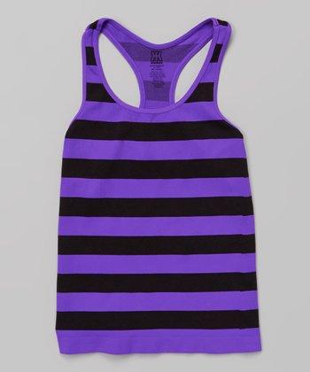 Purple Stripe Racerback Tank