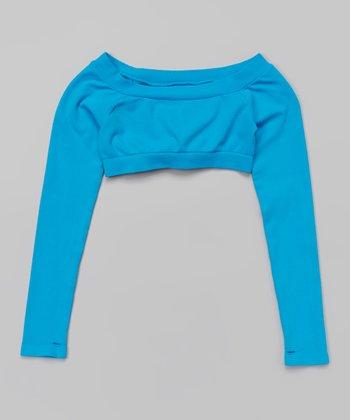 Cobalt Long-Sleeve Crop Top