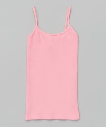 Pink Ribbed Camisole