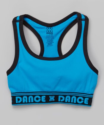Turquoise 'Dance' Sports Bra