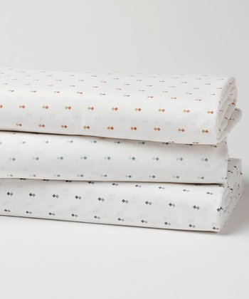 Double Diamond Organic Fitted Crib Sheet