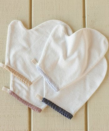 Mini Stripe Bath Mitt