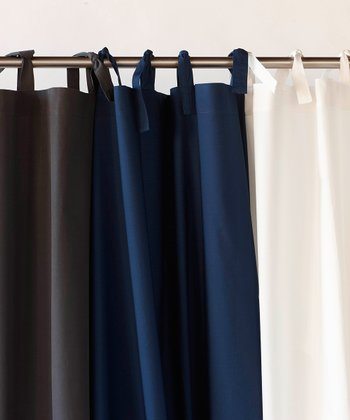 Pin Tuck Percale Organic Shower Curtain
