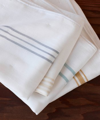 Stripe Muslin Organic Burp Cloth Set