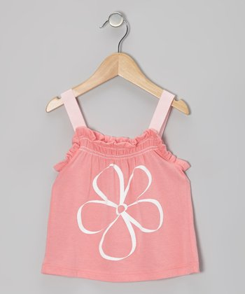 Pink Flower Power Ruffle Tank - Toddler & Girls