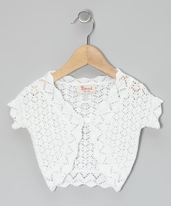 White Knit Shrug - Toddler & Girls