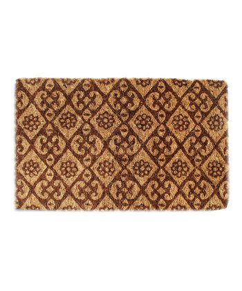 Floral Diamond Doormat