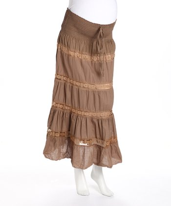 Mushroom Maternity Convertible Peasant Skirt