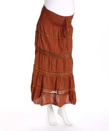 Rust I am Beautiful Maternity Convertible Skirt