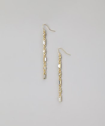 Gold & Swarovski Crystal Shimmer Earrings