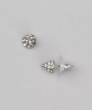 Sterling Silver & Swarovski Crystal Spike Stud Earrings