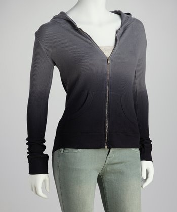 Charcoal Ombre Zip-Up Hoodie