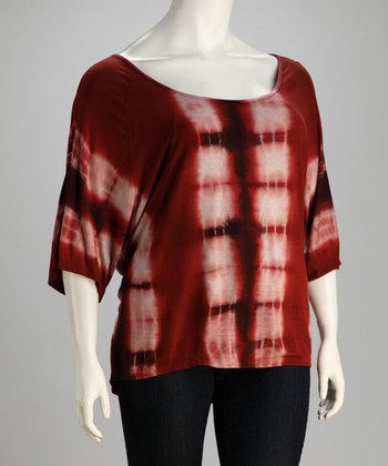 Rust Bamboo Tie-Dye Tunic - Plus