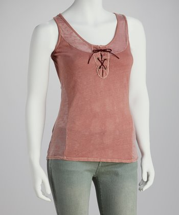 Rose Burnout Tank - Women
