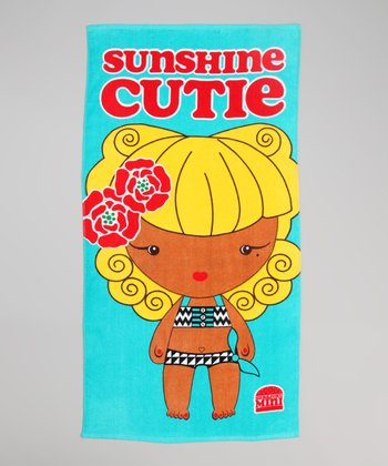 Aqua 'Sunshine Cutie' Beach Towel