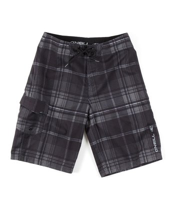 Black Santa Cruz Plaid Boardshorts