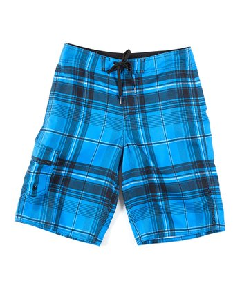 Blue Santa Cruz Plaid Boardshorts