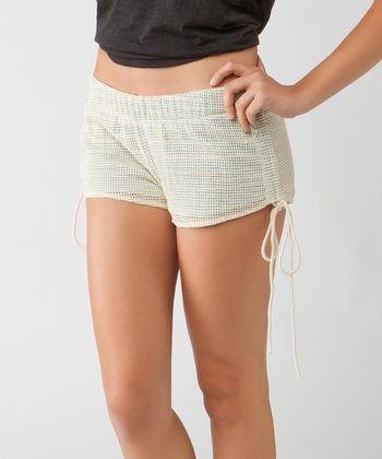 Winter White Pinstripe Smith Shorts