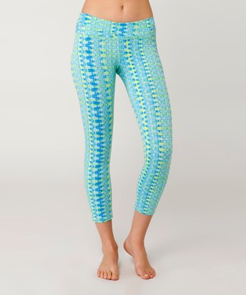 Coastal Blue Velocity Capri Leggings