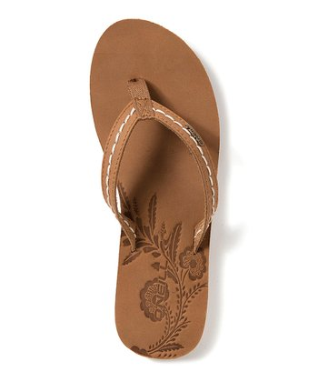 Cognac Waves Flip-Flop