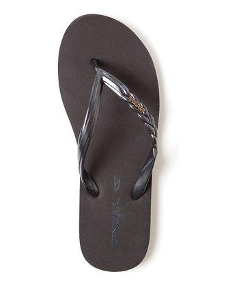 Black Shine Flip-Flop