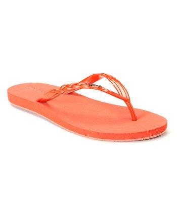 Coral Shine Flip-Flop