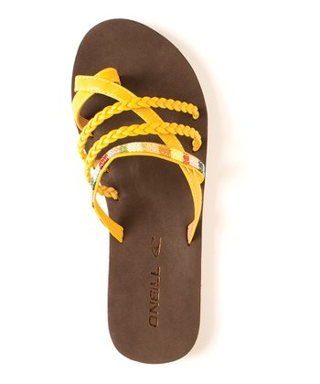 Yellow Festival Sandal - Women