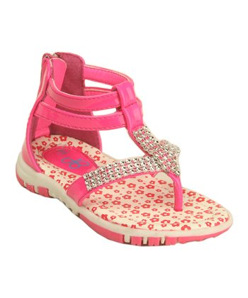 Fuchsia Patent Ashley Gladiator Sandal