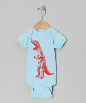 Light Blue T-Rex Bodysuit - Infant