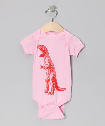 Light Pink T-Rex Bodysuit - Infant