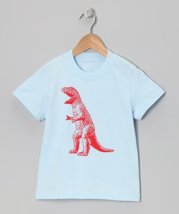 Light Blue T-Rex Tee - Infant, Toddler & Boys